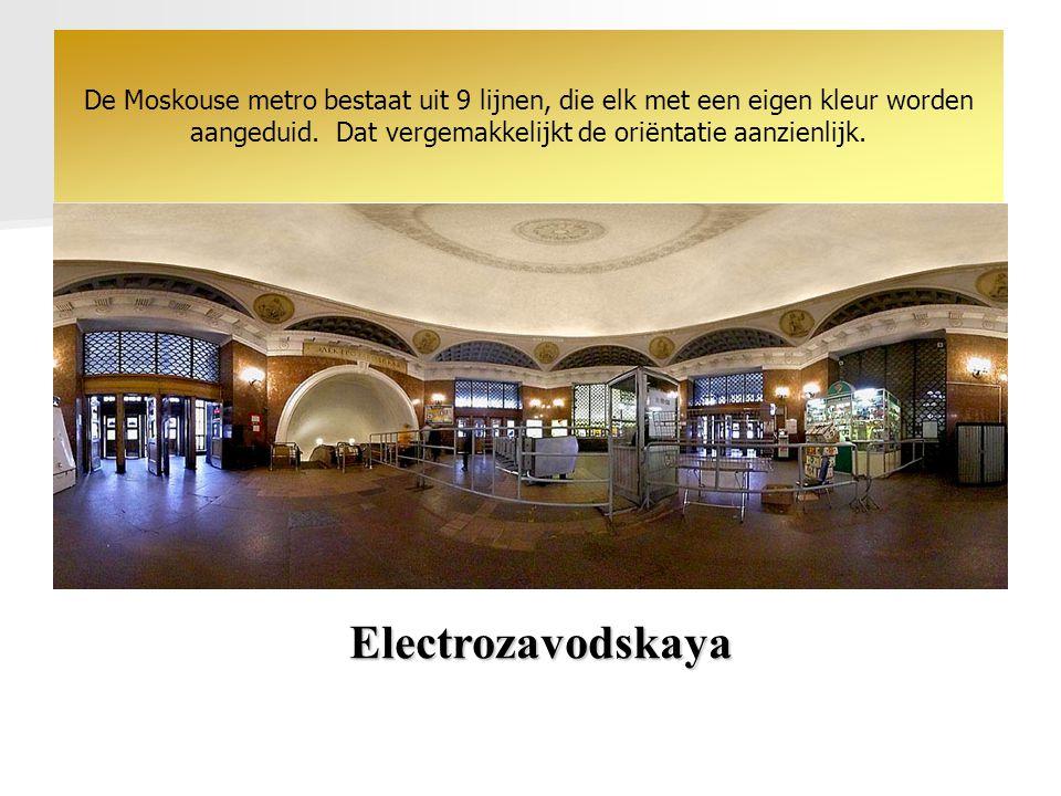 Electrozavodskaya De Moskouse metro bestaat uit 9 lijnen, die elk met een eigen kleur worden aangeduid.