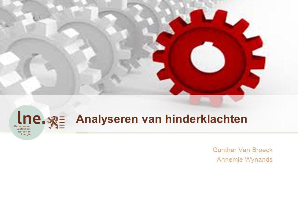 Analyseren van hinderklachten Gunther Van Broeck Annemie Wynands