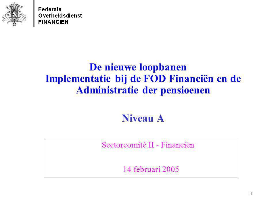 2 INLEIDENDE OPMERKINGEN •De implementatie van de loopbanen in niveau A zal gebeuren in twee fasen : 1.