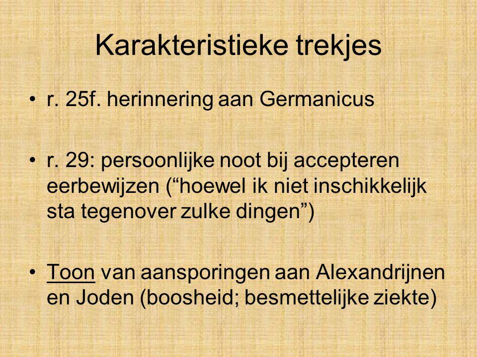 Karakteristieke trekjes •r.25f. herinnering aan Germanicus •r.