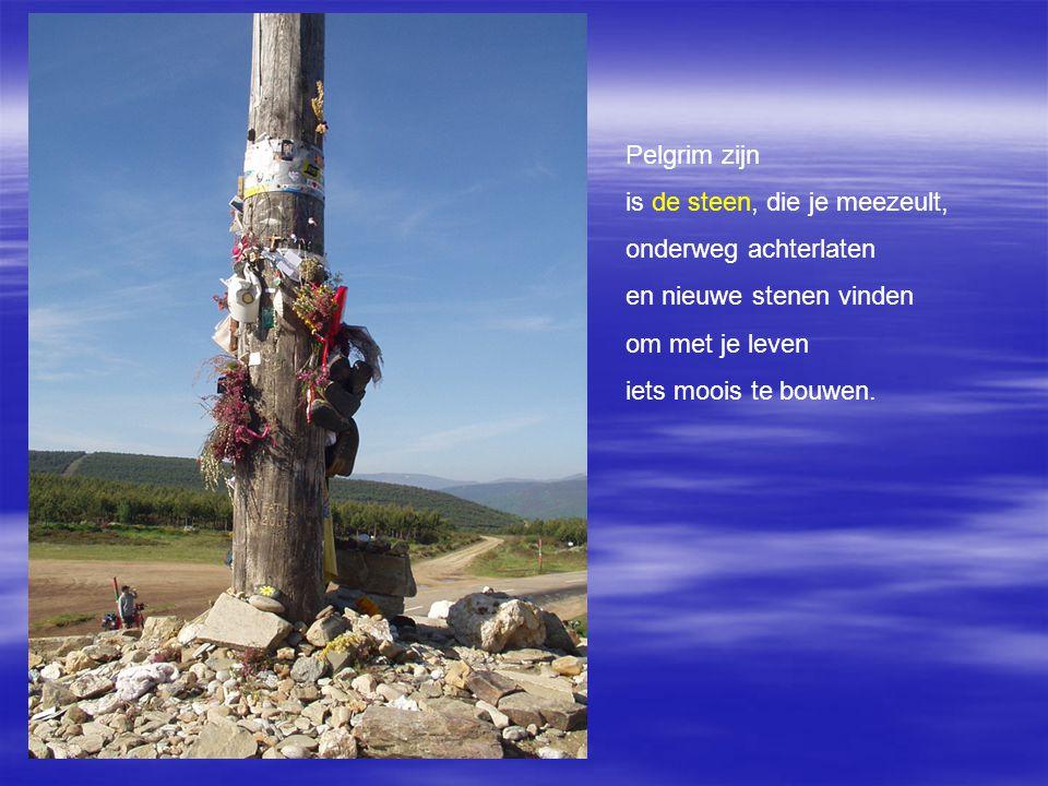 Pelgrim zijn is het kruis van jouw leven niet langer wegstoppen maar het opnemen en ontdekken dat je het dragen kan.