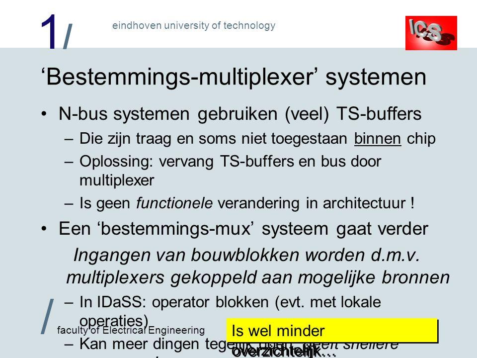 1/1/ / faculty of Electrical Engineering eindhoven university of technology 'Bestemmings-multiplexer' systemen •N-bus systemen gebruiken (veel) TS-buf