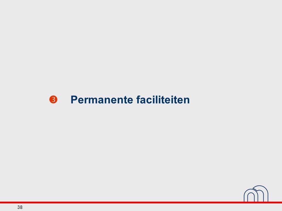 38  Permanente faciliteiten