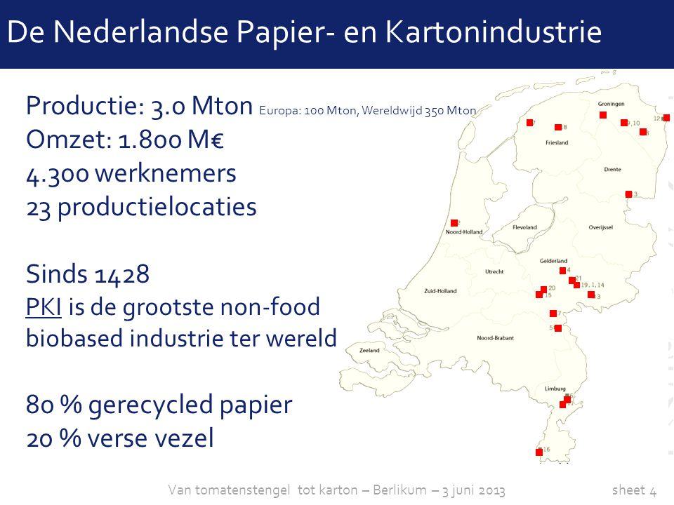 sheet 4 Productie: 3.0 Mton Europa: 100 Mton, Wereldwijd 350 Mton Omzet: 1.800 M€ 4.300 werknemers 23 productielocaties Sinds 1428 PKI is de grootste