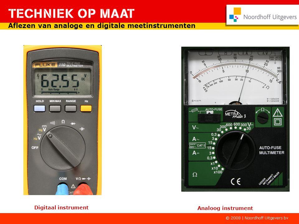 Hieronder een voorbeeld van een meetinstrument met twee schaalverdelingen.