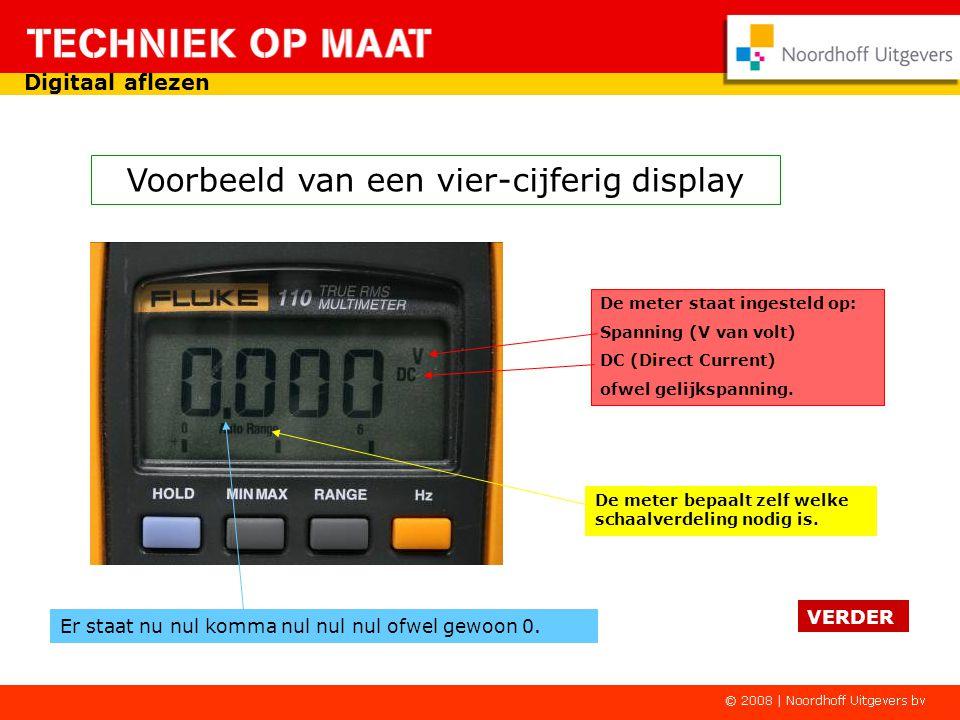 Digitale instrumenten zijn herkenbaar aan het display met cijfers. Enkele voorbeelden van een digitale uitlezing. VERDER Digitaal aflezen