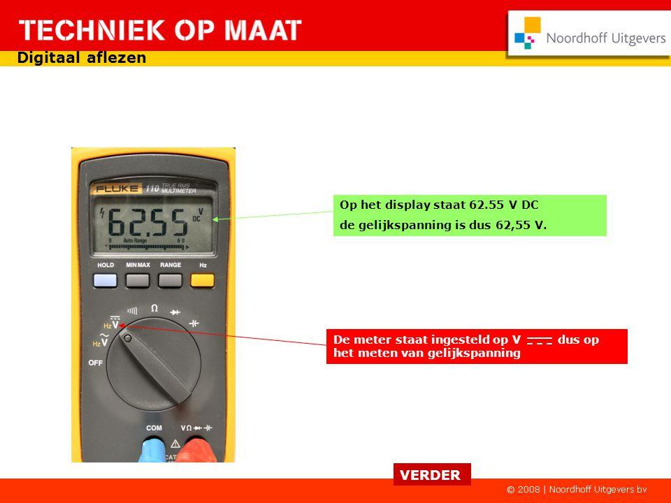 De meter staat ingesteld op Ω dus op het meten van weerstand. Op het display staat 1,8 De weerstand is dus 1,8 Ω Een viertal voorbeelden hoe je moet a