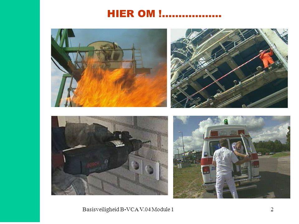 Basisveiligheid B-VCA V.04 Module 113 En de …..Arbeidsinspectie.