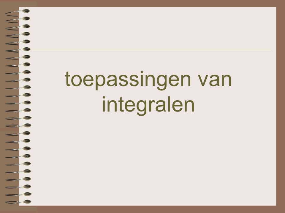 toepassingen van integralen