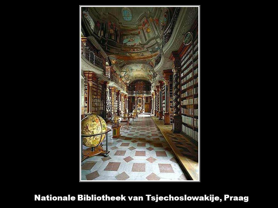 Bibliotheek van de Abdij van St. Gallen, Zwitserland.