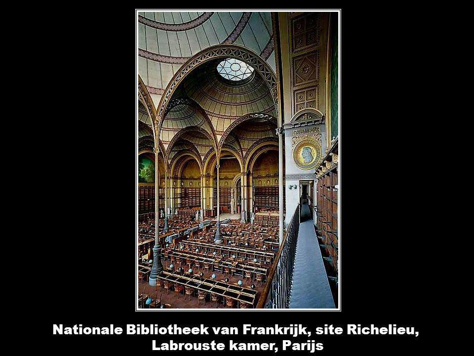 Nationale Bibliotheek van Frankrijk, site Richelieu, Labrouste kamer, Parijs Nationale Bibliotheek van Frankrijk, site Richelieu, Labrouste kamer, Parijs