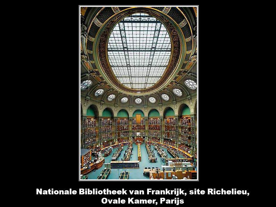 Nationale Bibliotheek van Frankrijk, site Richelieu, Labrouste kamer, Parijs Nationale Bibliotheek van Frankrijk, site Richelieu, Labrouste kamer, Par