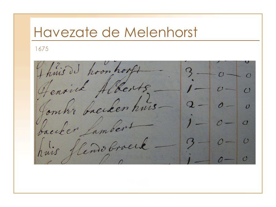 Havezate de Melenhorst 1675