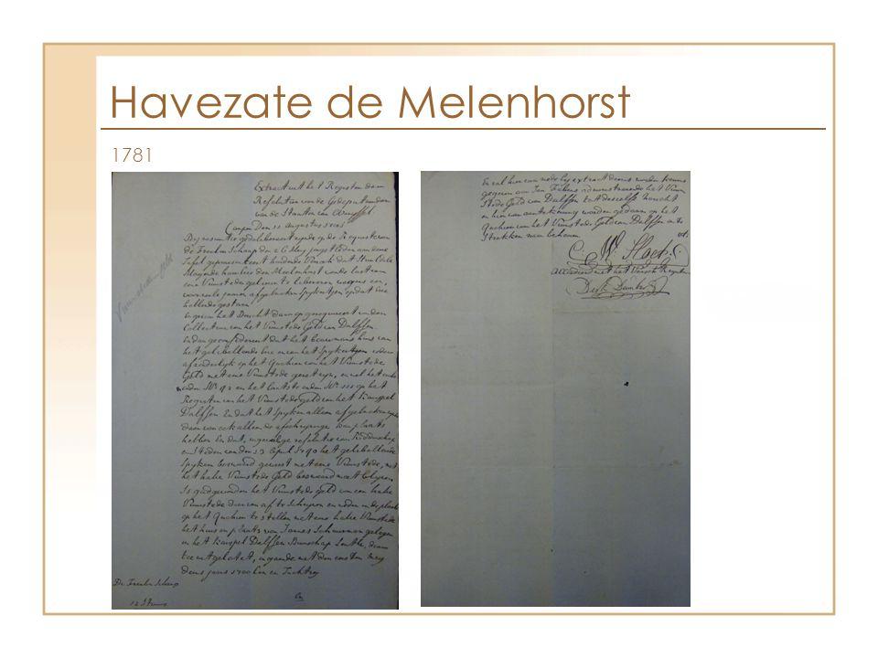 Havezate de Melenhorst 1781