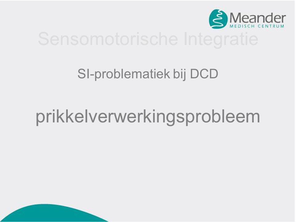Sensomotorische Integratie SI-problematiek bij DCD prikkelverwerkingsprobleem