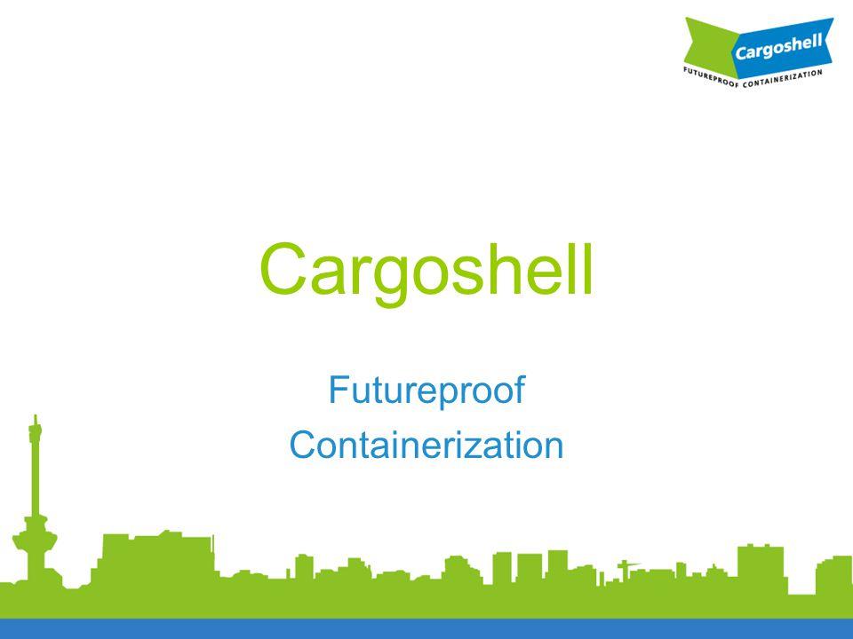 Cargoshell, de container voor de komende generaties •Succesvolle periode stalen container sinds 1957 •Nieuw containerconcept •Cargoshell •Composiet •In- en uitklapbaar •Milieuvriendelijker, reductie CO 2 •Verlaging bedrijfseconomische kosten •Lichtgewicht