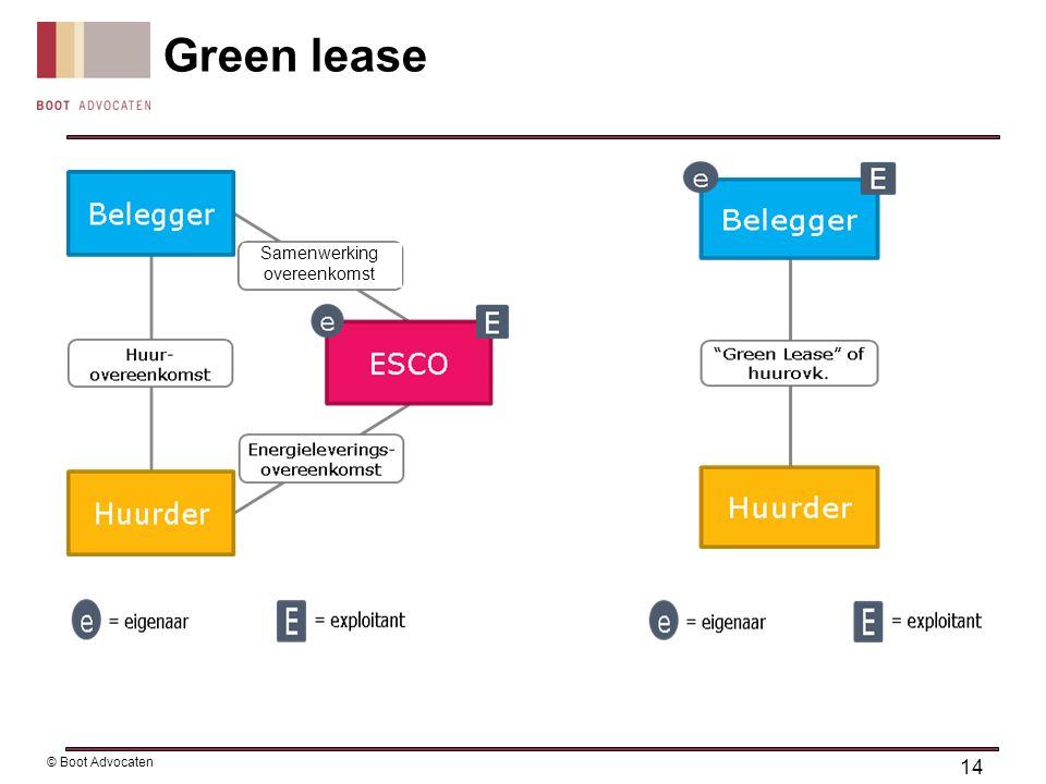 Green lease 14 © Boot Advocaten Samenwerking overeenkomst