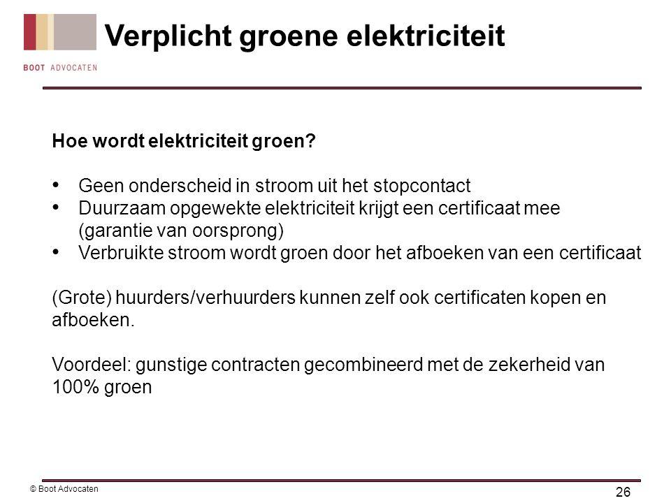 Hoe wordt elektriciteit groen? • Geen onderscheid in stroom uit het stopcontact • Duurzaam opgewekte elektriciteit krijgt een certificaat mee (garanti