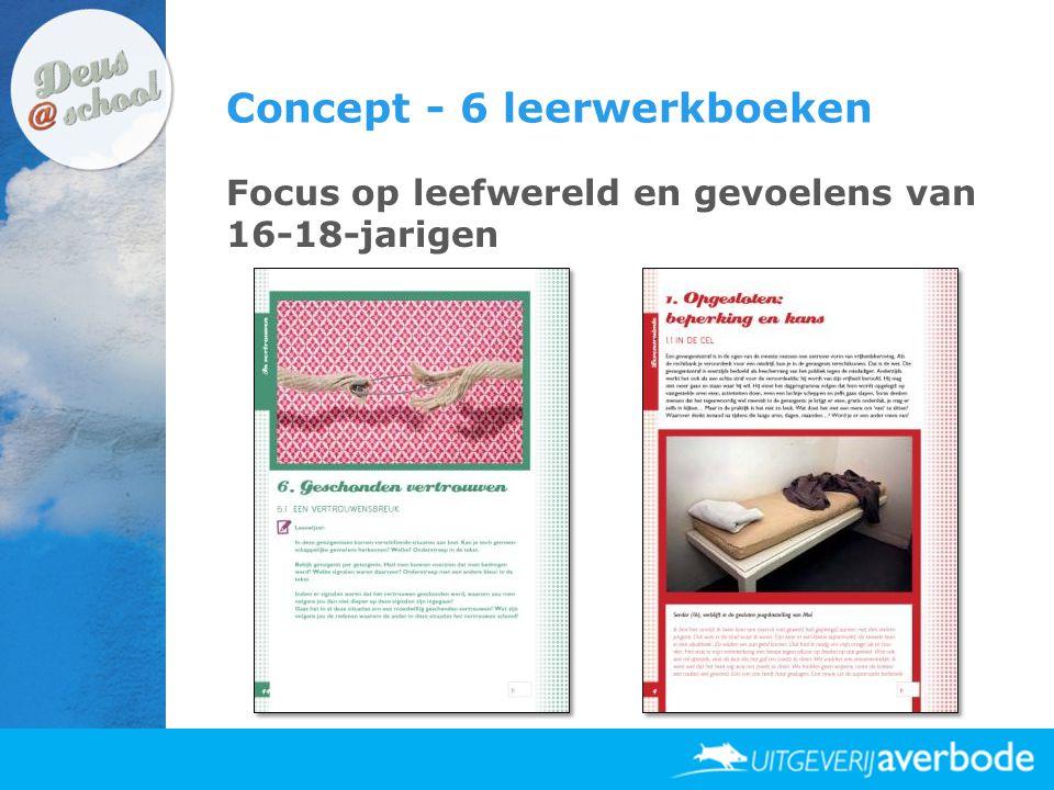 Concept - 6 leerwerkboeken Focus op leefwereld en gevoelens van 16-18-jarigen