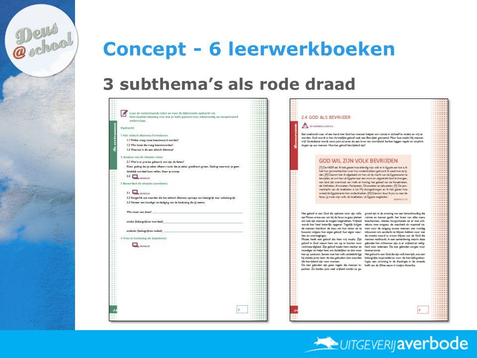 Concept - 6 leerwerkboeken 3 subthema's als rode draad