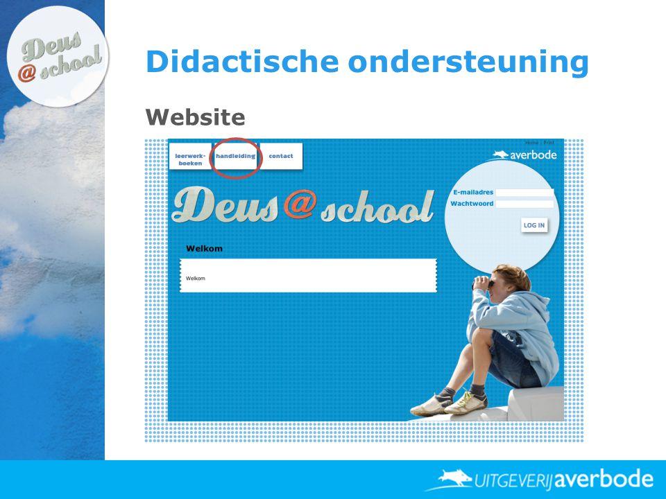 Didactische ondersteuning Website