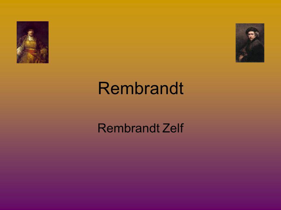 Rembrandt stierf op 4 oktober 1669 Hij had toen 400 schilderijen, 320 etsen en 1400 tekeningen gemaakt.