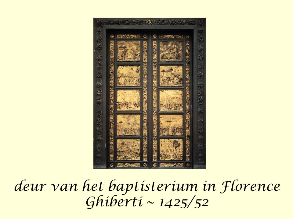 deur van het baptisterium in Florence Ghiberti ~ 1425/52