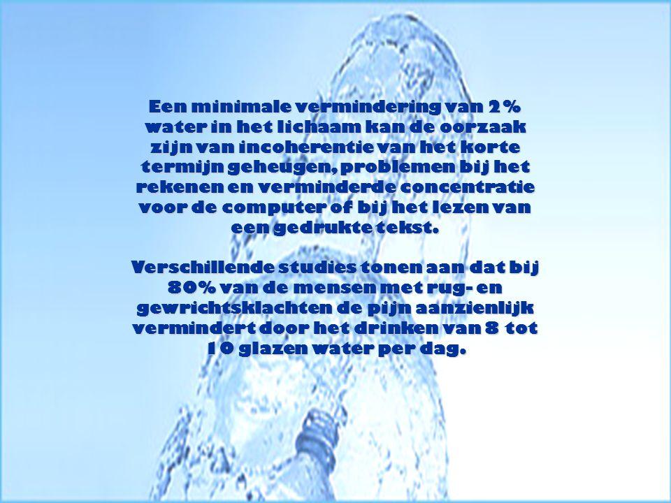 Een onderzoek van de universiteit van Washington toont aan dat een glas water tijdens de nacht voor nagenoeg 100% het hongergevoel wegneemt van de personen die een dieet volgen.