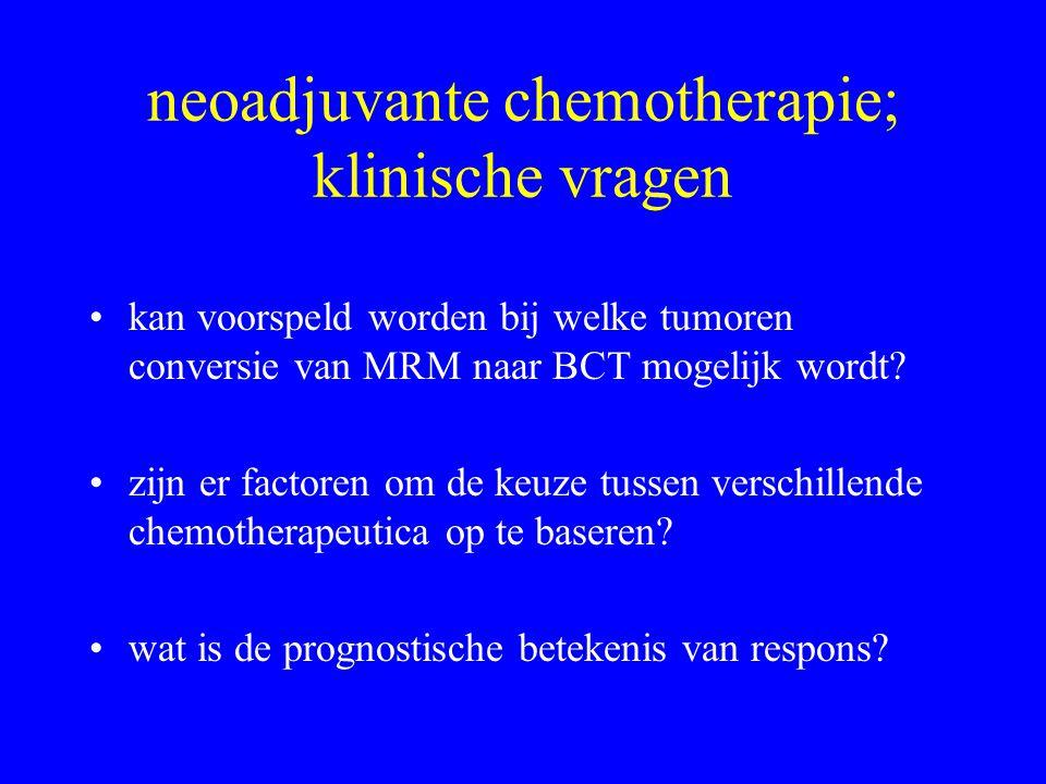 standaard factoren; meetbaarheid pre-CT (core) •pT- •Tumor type WHO+ •Tumorgraad Elston/Ellis+/- •DCIS component- •Lymfklierstatus+/- •ER, PgR, Her2Neu, p53+