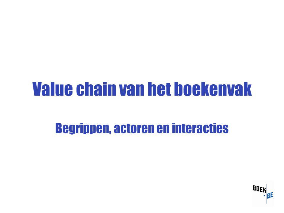 Value chain van het boekenvak Begrippen, actoren en interacties