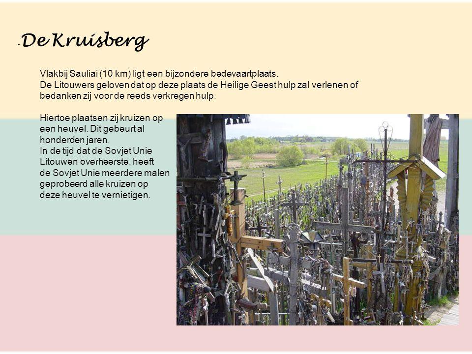 - De Kruisberg Vlakbij Sauliai (10 km) ligt een bijzondere bedevaartplaats. De Litouwers geloven dat op deze plaats de Heilige Geest hulp zal verlenen