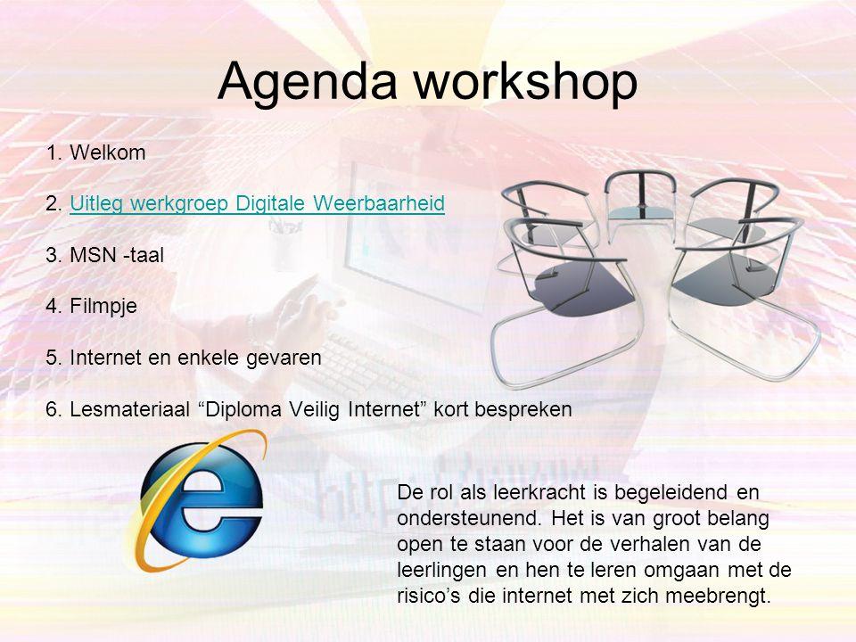 Agenda workshop 1.Welkom 2.