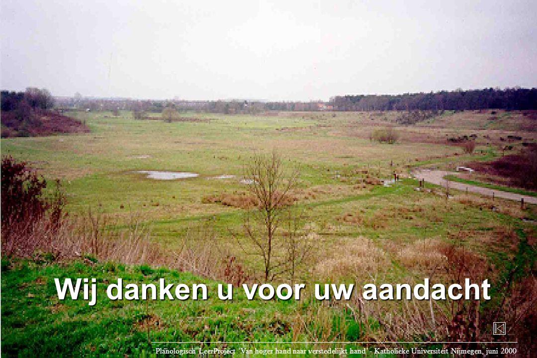 Wij danken u voor uw aandacht Planologisch LeerProject 'Van hoger hand naar verstedelijkt hand' - Katholieke Universiteit Nijmegen, juni 2000