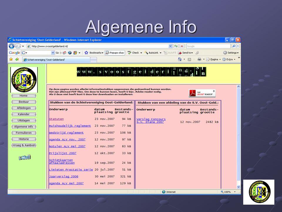 Algemene Info