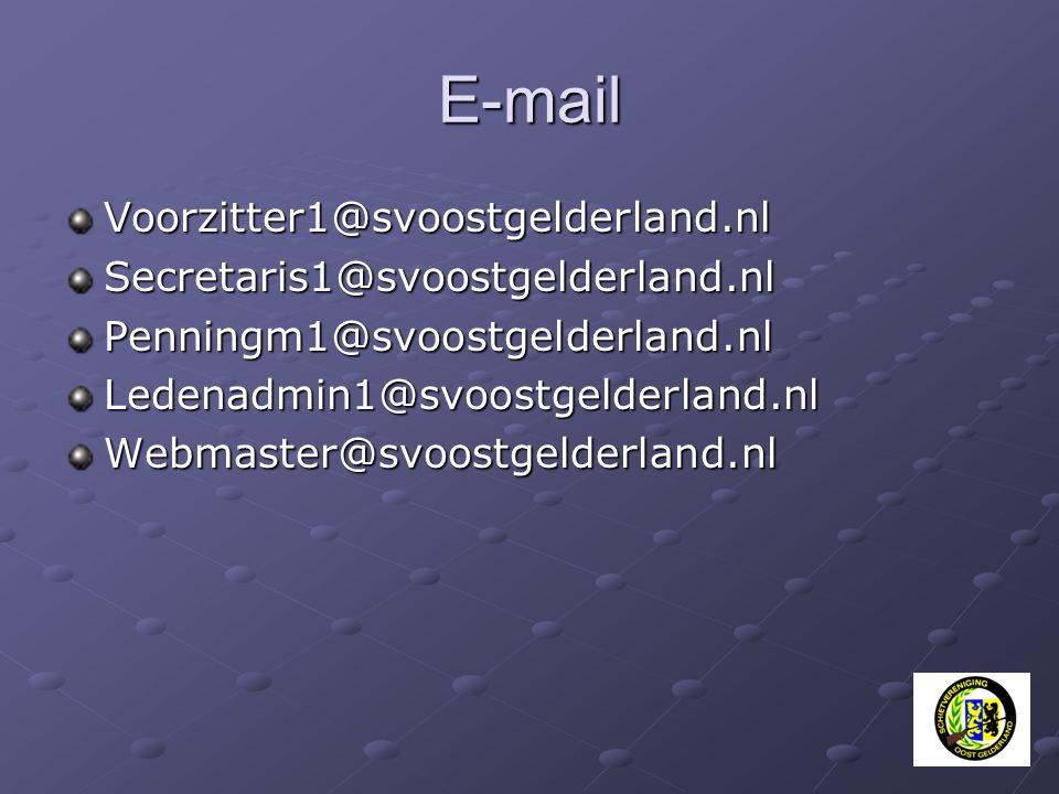 E-mail Voorzitter1@svoostgelderland.nlSecretaris1@svoostgelderland.nlPenningm1@svoostgelderland.nlLedenadmin1@svoostgelderland.nlWebmaster@svoostgelde