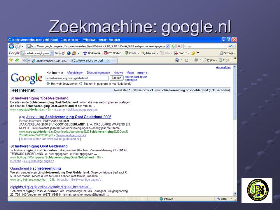 Zoekmachine: google.nl