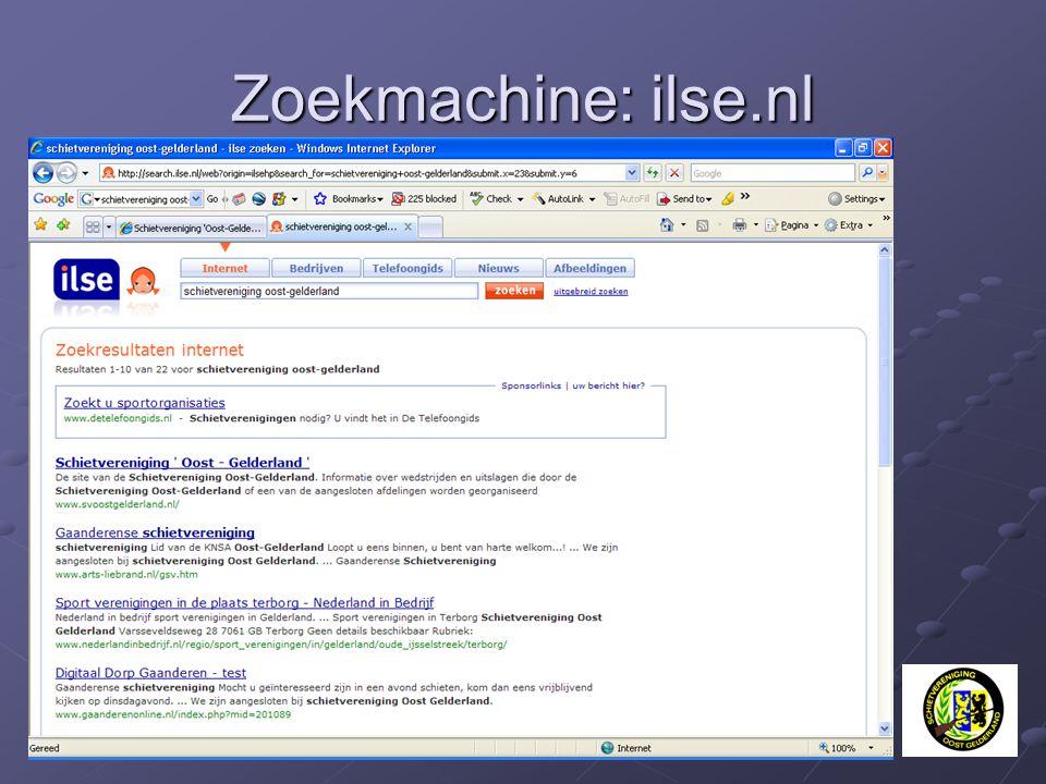 Zoekmachine: ilse.nl