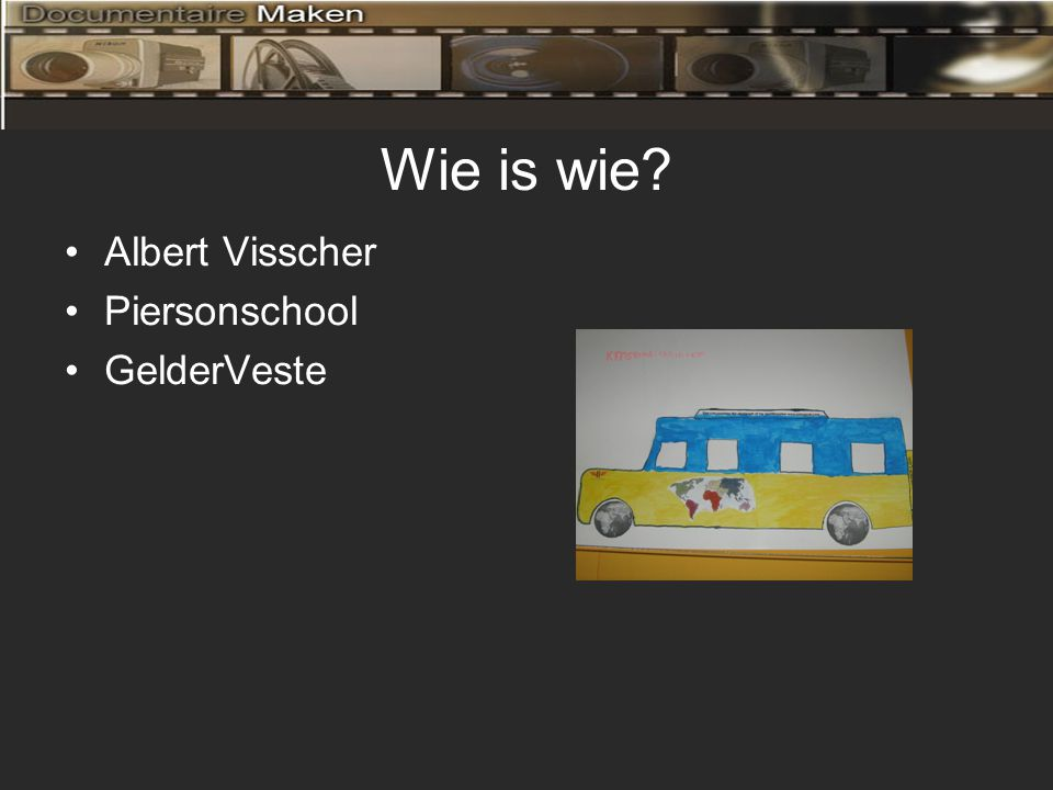 Wie is wie •Albert Visscher •Piersonschool •GelderVeste