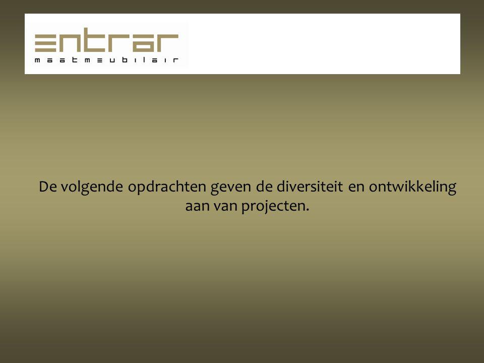 De volgende opdrachten geven de diversiteit en ontwikkeling aan van projecten.