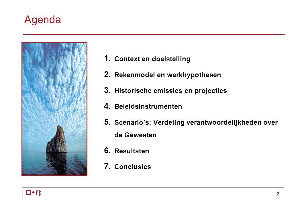 pwc 2 Agenda 1. Context en doelstelling 2. Rekenmodel en werkhypothesen 3.