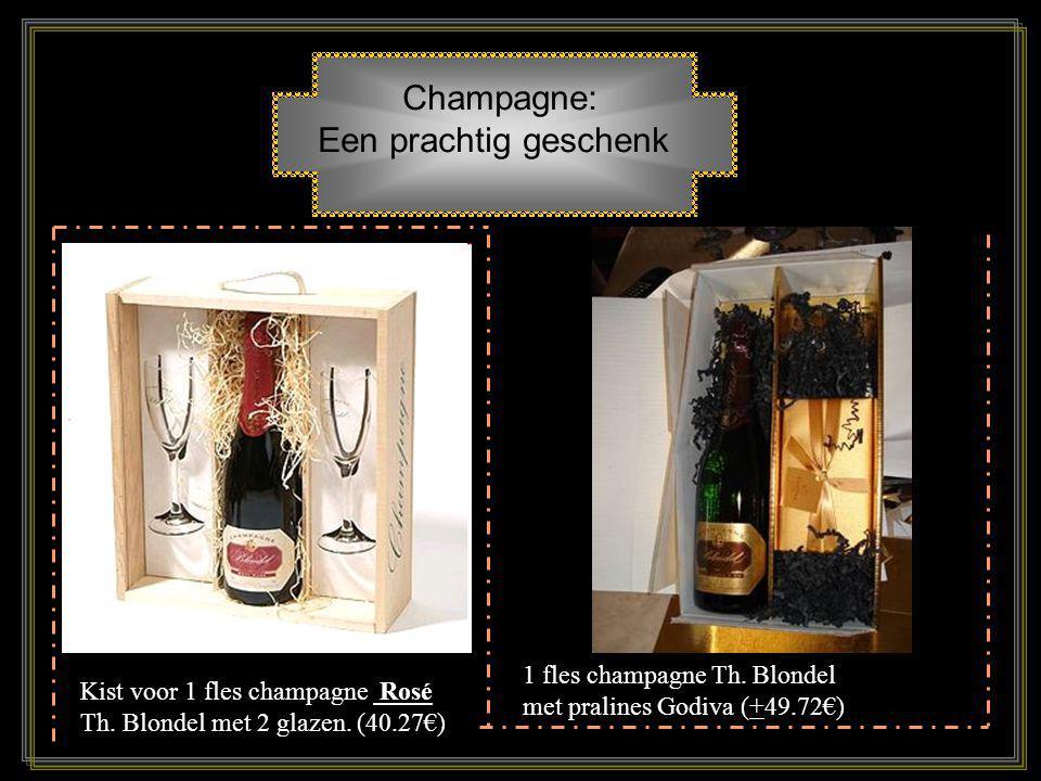 Champagne: geschenkidee Champagne, is Frankrijks grootste tastbare bijdragen aan het menselijk geluk. Het is de stemmingmaker, de katalysator en het w
