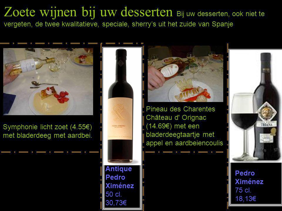 Kerst- en Oudejaarsavondmenu ~~ Aperitief ~~ Th. Blondel (22.69€) Prosecco (7,77€) of Cava Vallformosa (7.53€) ~~ Bouillabaisse vissoepje ~~ Dom. de B