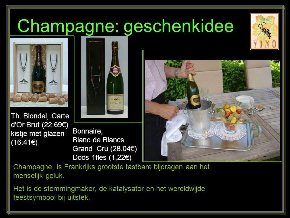 Champagne: geschenkidee Champagne, is Frankrijks grootste tastbare bijdragen aan het menselijk geluk.