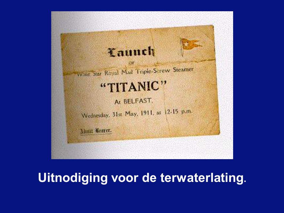 31 Mei 1911 de terwaterlating voor meer dan 100.000 kijklustigen. Om het schip vlot te laten glijden waren 22 ton glijmiddel en zeep nodig. 20 maart 1