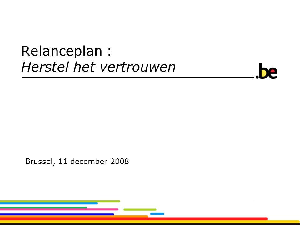 Relanceplan : Herstel het vertrouwen Brussel, 11 december 2008