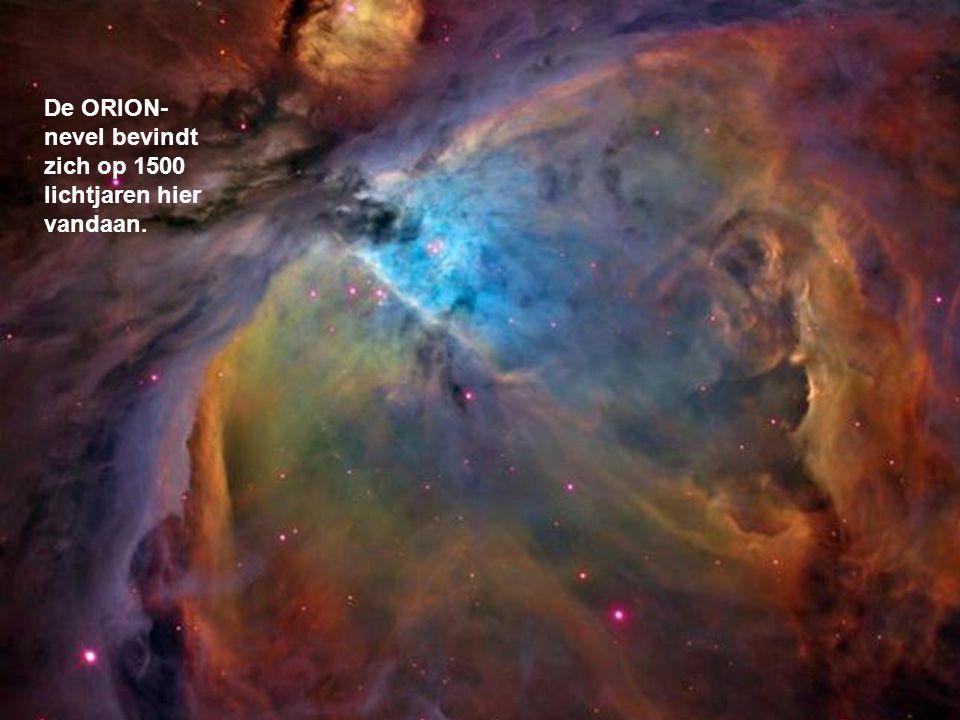 Deze nevel is miljoenen keren groter dan ons zonnestelsel. Hierin worden sterren zoals onze zon geboren. Nevels zijn de kraamkamers van het universum.