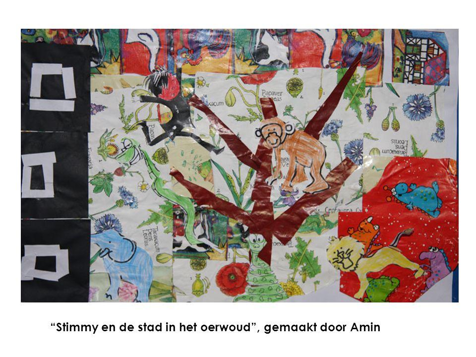 Stimmy en de stad in het oerwoud , gemaakt door Amin