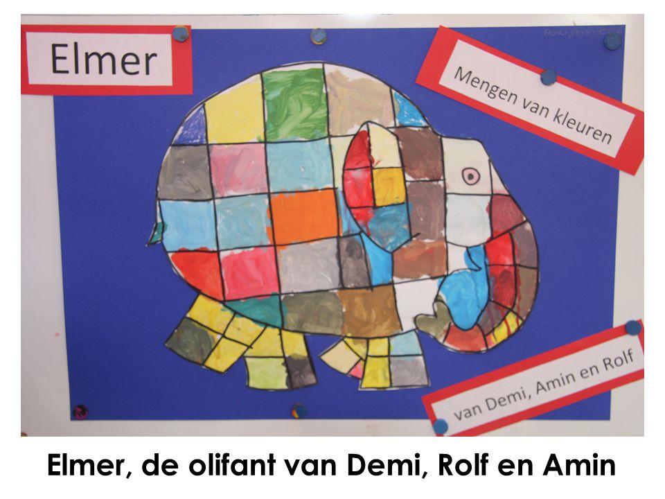 Elmer, de olifant van Demi, Rolf en Amin