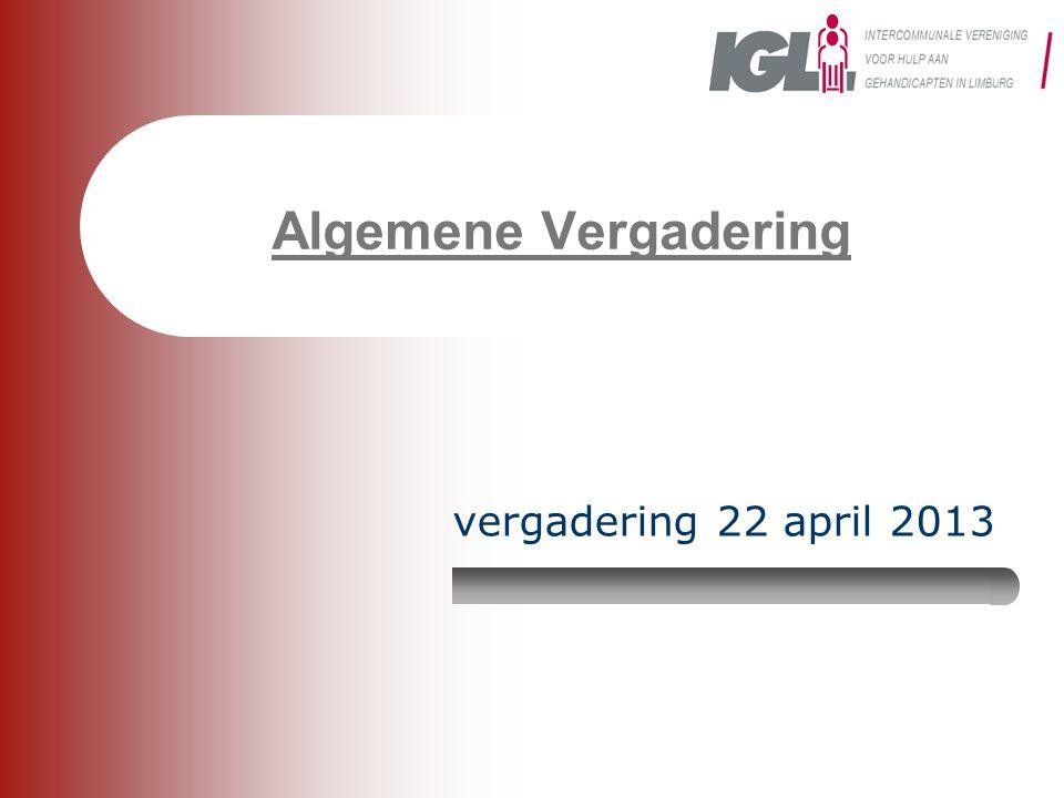Algemene Vergadering vergadering 22 april 2013