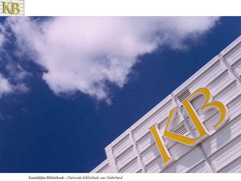 De KB en het digitale informatietijdperk Paul Doorenbosch Koninklijke Bibliotheek, Nationale Bibliotheek van Nederland Universiteit Tilburg 09-11-2007